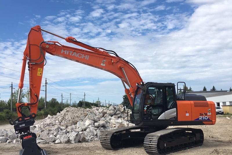 Hitachi-210-LC Bagger Abbruch Abriss Demontage Fuhrpark Gerätepark Spezialgerät